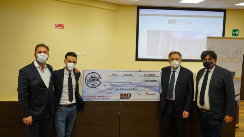 Dreamods supporta la Lega Italiana Anti Fumo, con una donazione per sostenere l'attività di sensibilizzazione